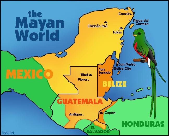 Maya World Map.Maya Clip Art By Phillip Martin Maya World